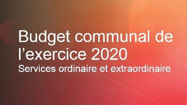 Budget communal 2020