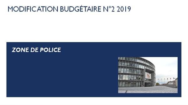Zone de police modification budgetaire2 2019