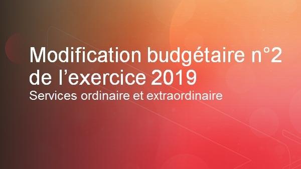 Modification budgetaire  2 2019