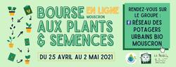 25 avril 2021 - Bourse aux plants & semences Mouscron - ligne