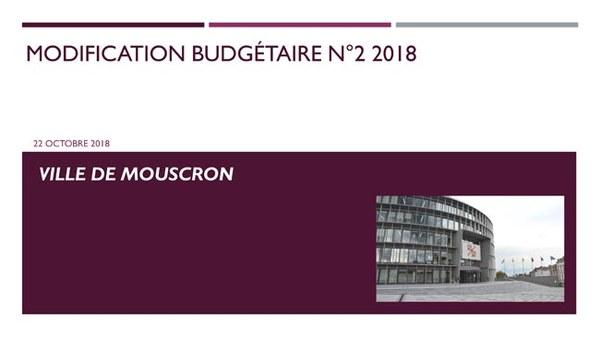 Modification budgétaire 2 2018
